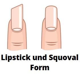 Lipstick und Squoval Gelnägel