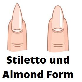 Stiletto und Almond Gelnägel